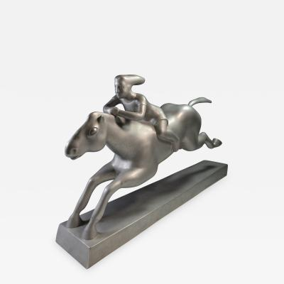 WPA Sculpture Girl Riding a Horse c 1940