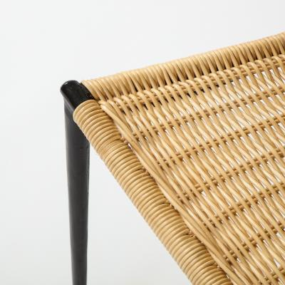 WROUGHT IRON WICKER SIDE CHAIRS