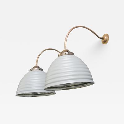 Wall Mounted Mercury Glass Lights Circa 1930s