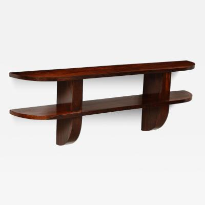 Wall Mounted Rosewood Console