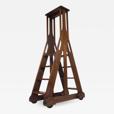 Walnut American Studio Craft Library Ladder