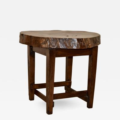 Walnut Live Edge Table c 1950s