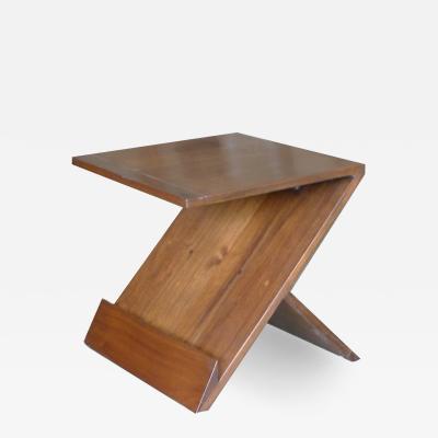 Walnut Mid Century Zig Zag Table