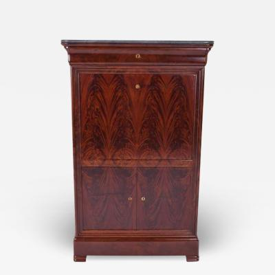 Walnut Secretaire Abattant Louis Philippe Period