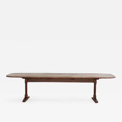 Walnut Trestle Dining Table