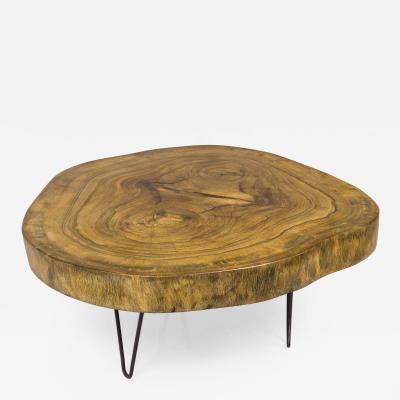 Walnut Trunk Coffee Table circa 2000 France