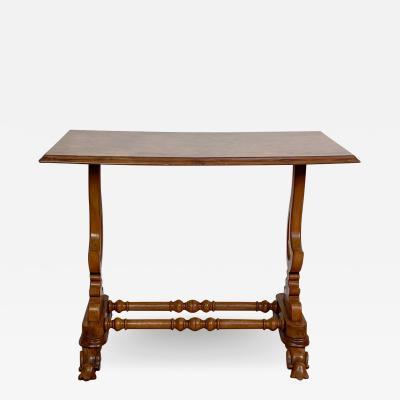 Walnut Writing Table Italy Circa Early 20th Century