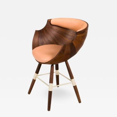 Walnut and Leather Zun Dining or Conference Chair by Lop Furniture Denmark