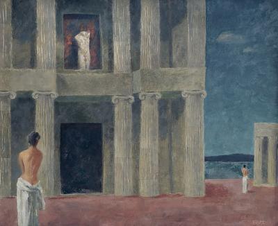 Walter Charles Klett Hellenic Hypotenuse Nudes among Greek Columns
