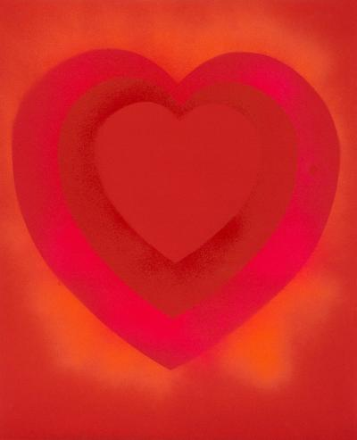 Walter Darby Bannard Untitled Heart Painting