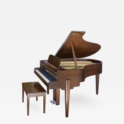 Walter Darwin Teague Streamline Moderne Walnut Steinway Baby Grand by Walter Darwin Teague