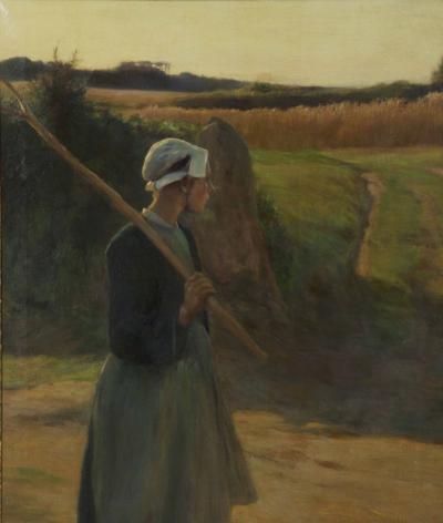 Walter E Nettleton Peasant Woman oil painting on canvas Walter Nettleton American 1861 1936