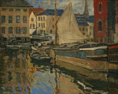 Walter Elmer Schofield On the Canal Bruges