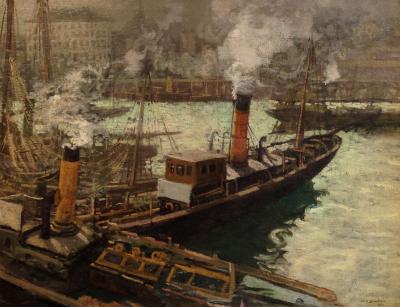 Walter Elmer Schofield Steam Trawlers Boulogne