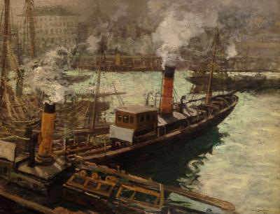 Walter Elmer Schofield The Steam Trawlers Boulogne