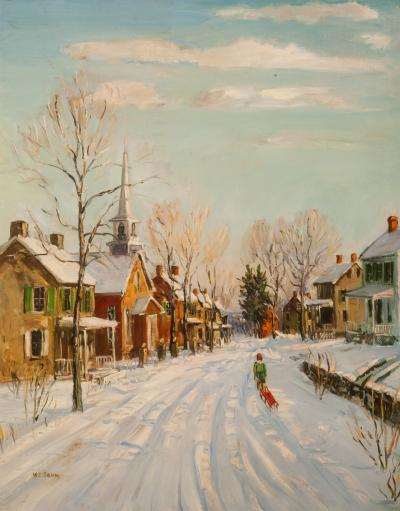 Walter Emerson Baum A Bright Winter Monring