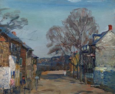 Walter Emerson Baum Sellersville Town View