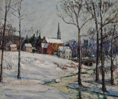 Walter Emerson Baum Winter Near the Creek