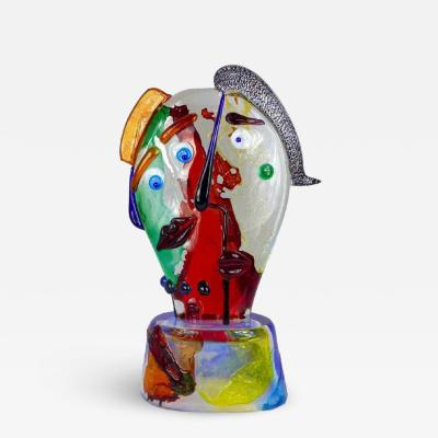 Walter Furlan Homage to Picasso Murano Glass Sculpture