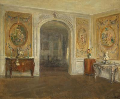 Walter Gay Oval Tapestries An 18th Century Salon