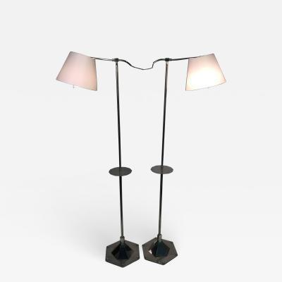 Walter Kantack EXCEPTIONAL PAIR OF MODERNIST ART DECO FLOOR LAMPS