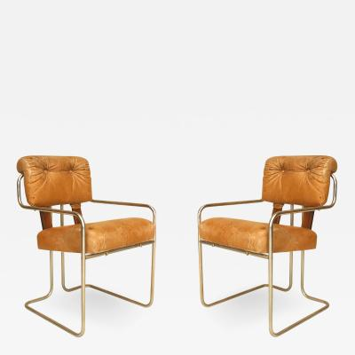 Walter Knoll Set of 4 German Art Deco 1930s Chrome Arm Chairs