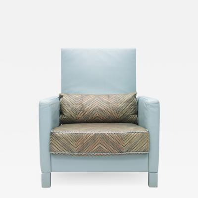 Walter Knoll rare Light Blue Lounge Chair Negresco by Walter Knoll 1989