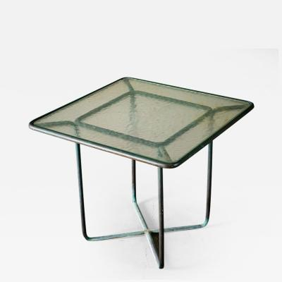 Walter Lamb Walter Lamb Square Bronze Side Table