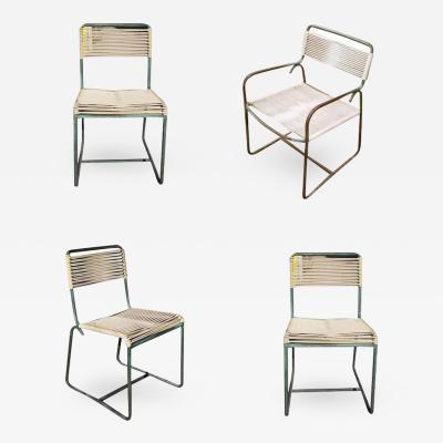 Walter Lamb Walter Lamb for Brown Jordan Outdoor Patio Bronze Chairs Set of Four