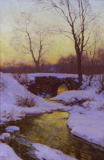 Walter Launt Palmer Snow Bound Brook