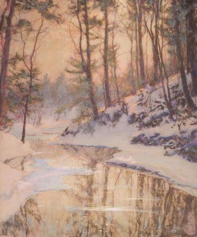 Walter Launt Palmer The Melting Brook