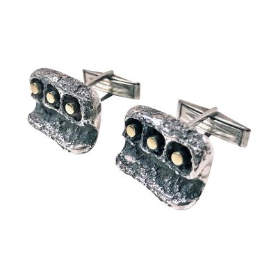 Walter Schluep Walter Schluep Gold and Sterling Cufflinks C 1960