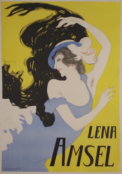 Walter Schnackenberg Rare German Theatre Poster by Walter Schnackenberg circa 1918