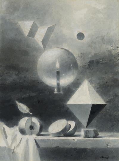 Walter Tandy Murch Study for Octahedron