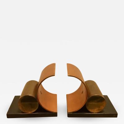 Walter Von Nessen ART DECO MODERNIST BOOKENDS