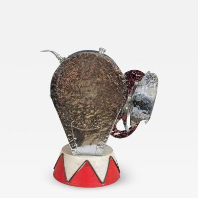 Walter Von Nessen Exceptional Modernist Art Deco Circus Elephant Lamp by Walter Von Nessen