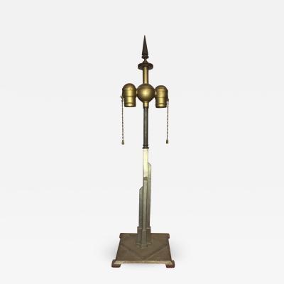 Walter Von Nessen GREAT ART DECO SKYSCRAPER LAMP