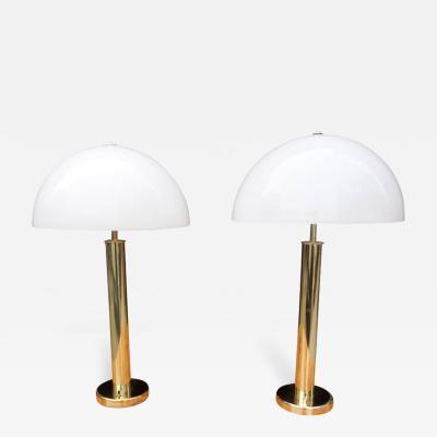 Walter Von Nessen Midcentury Walter Von Nessen Lamps in Brass