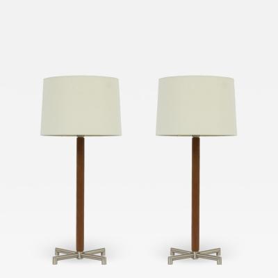 Walter Von Nessen Nessen Studios Leather Lamps by Walter Von Nessen