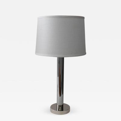 Walter Von Nessen Pair of Von Nessen Polished Chrome Table Lamps