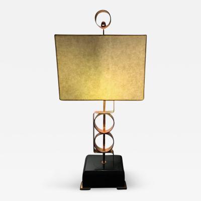 Walter Von Nessen Striking Walter Von Nessen Modernist Art Deco Copper Lamp