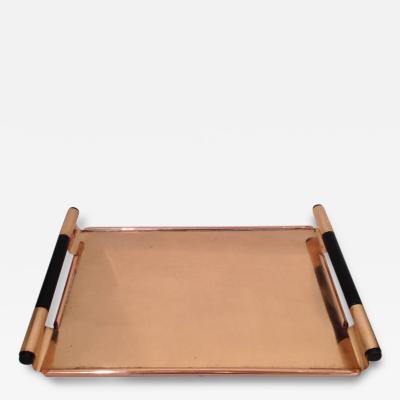 Walter Von Nessen Walter Von Nessen Rare Copper Tiffin Tray