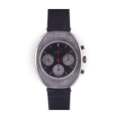 Waltham Brushed Steel Chronograph Wrist Watch