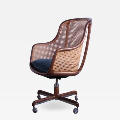 Ward Bennett Caned Swivel Desk Chairs by Ward Bennett