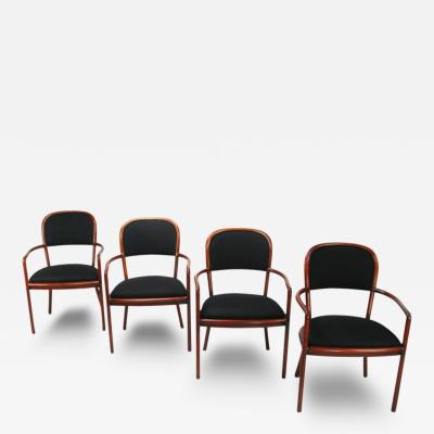 Ward Bennett Four Rare Ward Bennett Ash Bentwood Chairs
