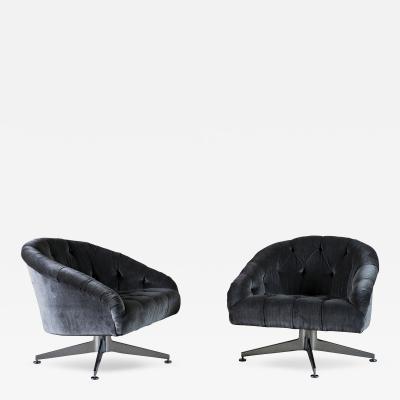 Ward Bennett Pair of Ward Bennett Lounge Chairs