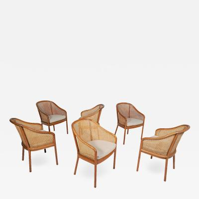 Ward Bennett Six Ward Bennet arm chairs for Brickel Assoc Design 1960S