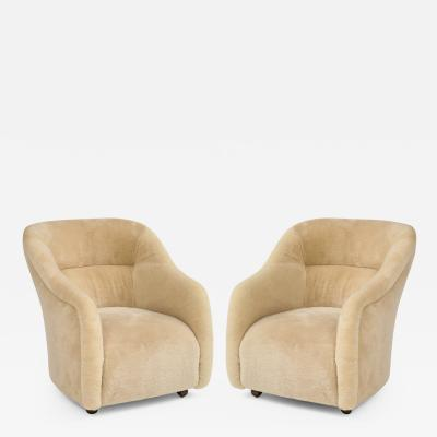 Ward Bennett Ward Bennett Sheepskin Club Chairs