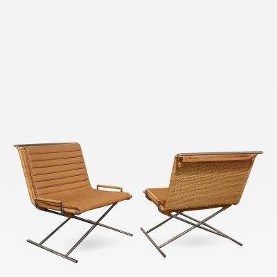 Ward Bennett Ward Bennett Sled Chairs 1970s