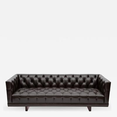 Ward Bennett Ward Bennett button tufted leather sofa for Lehigh Furniture circa 1960s